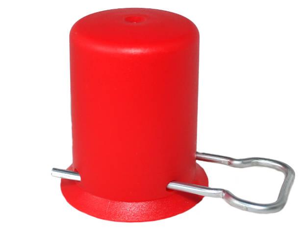 Deckel Flaschenkappe für Propangasflaschen Ersatzkappe Rot Schutzkappe Kappe
